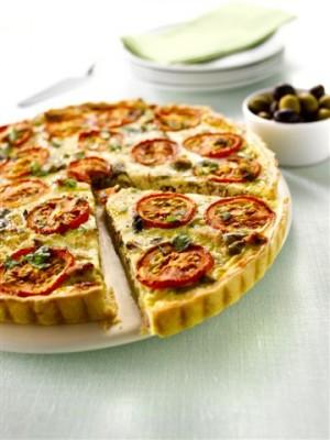 מתכון לקיש טונה, עגבניות, זיתים וחלב אורז