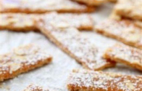 מתכון לעוגיות קרמל ושקדים חגיגיות לפסח
