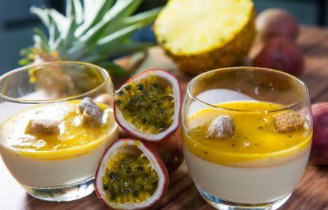 פנקוטה עם מרמלדת פירות אקזוטיים וקראמלבס שקדים