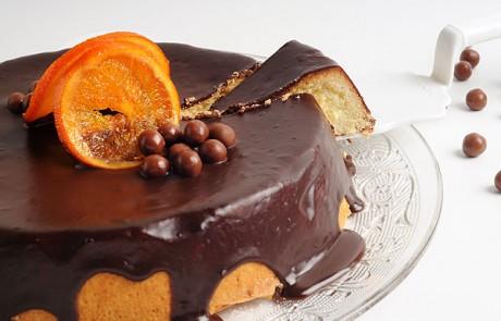 מתכון לשבועות: עוגת גבינה תפוז בציפוי גנאש שוקולד