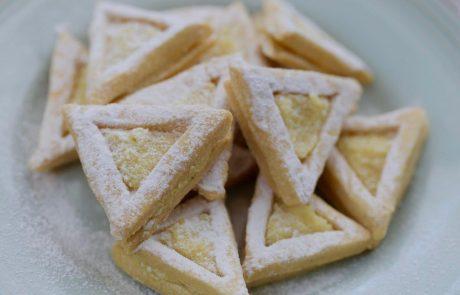 עוגיות אוזני המן ג'ינג'ר לימון