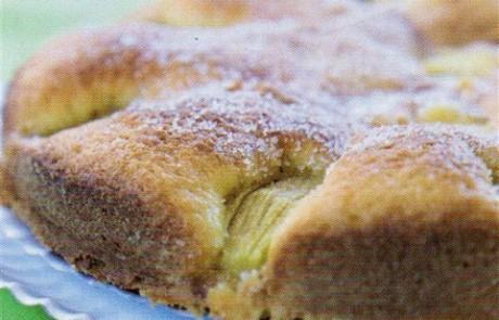 עוגת טחינה, תמרים ותפוחים