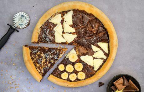 קינוח שוקולד מפנק – פיצה שוקולד ב- 3 צבעים