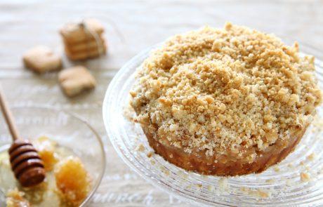 קינוח עוגת תפוחים עם מיני קוקיס קרמל