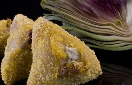 אוזן המן במילוי ארטישוק עם ציפוי קמח תירס