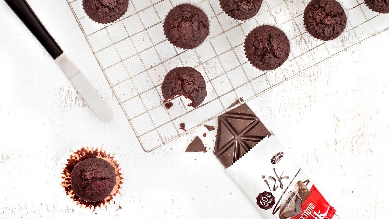 חברת כרמית חולקת מתכון מתוק עם טוויסט בריאותי:  מאפינס שוקולד וסלק
