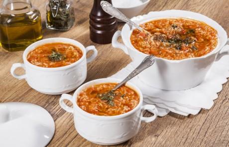 מתכון למרק עגבניות ואורז