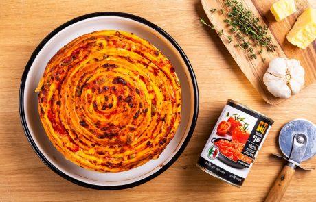 לכבוד יום הפיצה הבינלאומי: מתכון לרול פיצה ענק