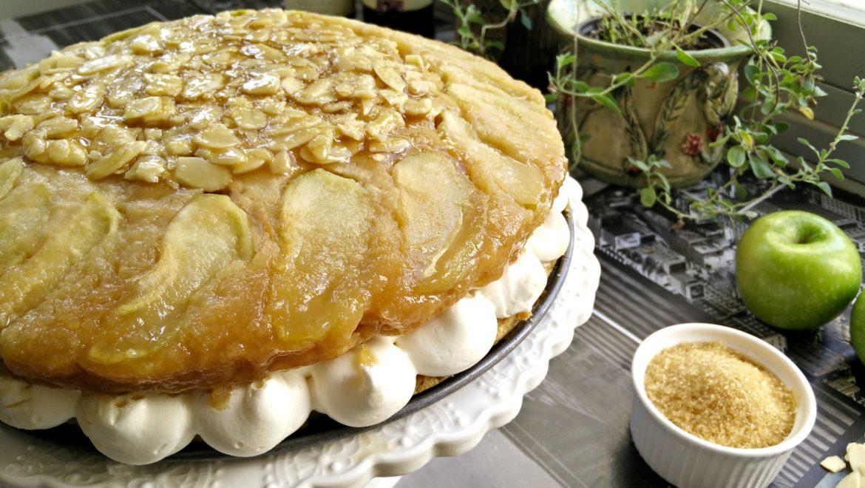 מתכון חגיגי לטבעוניים לשבועות: עוגת תפוחים וקרמל ללא גלוטן וללא חלב