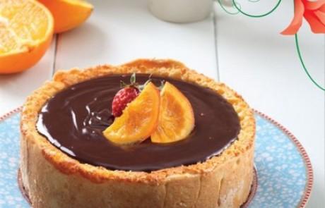 עוגת גבינה שוקולדית בניחוח תפוז