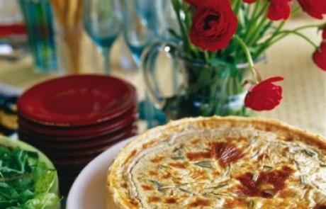 מתכון לקיש גבינת עיזים ורוזמרין