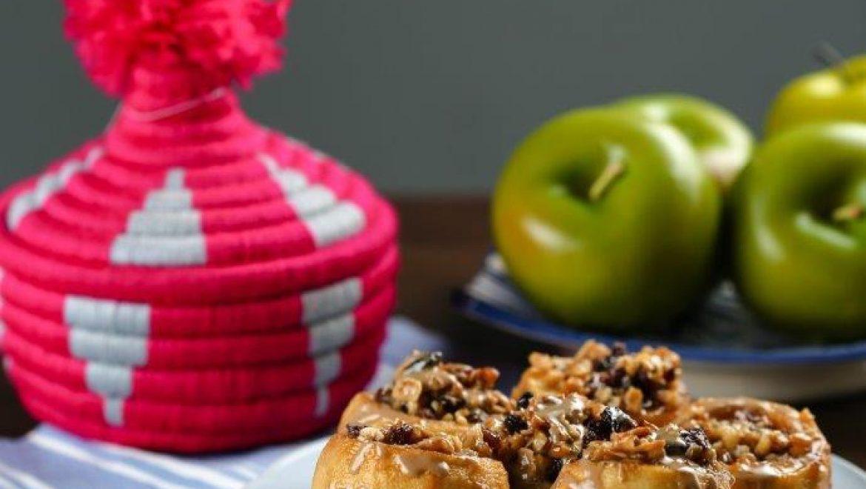 תפוח עץ ממולא בשקדים ואגוזים 🍎🥰